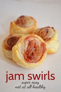 Super Simple, Not At All Healthy, Jam Swirls - yum!