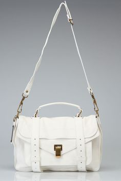 Proenza Schouler PS1 Medium Shoulder Bag In White