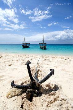 Anchor on the beach.