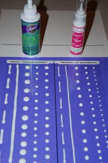 Homemade Glue Dots - the instructions