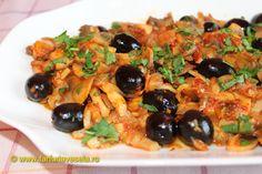 Mancare de ciuperci cu masline-de post Kung Pao Chicken, Vegetable Pizza, Risotto, Cooking, Ethnic Recipes, Romania, Fabrics, Food, Youtube