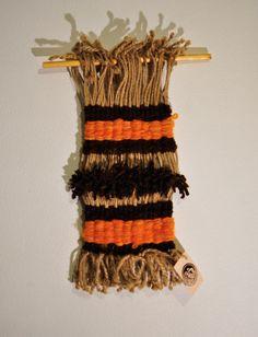 Weaving Wall Hanging Orange & Brown by 278studio on Etsy