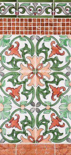 Miradouro Portuguese Ceramic Tiles - Concept 3 nice tile pattern, could change colors. Tile Art, Mosaic Tiles, Vitromosaico Ideas, Tile Design, Pattern Design, Spanish Tile, Portuguese Tiles, Style Tile, Hand Painted Ceramics