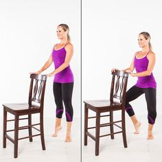 Barre Workout: Arabesque Attitude Abs - Home Workout Plan: 7 Ballet-Inspired Moves for Long, Lean Muscles - Shape Magazine Sport Fitness, Fitness Tips, Fitness Motivation, Health Fitness, Barre Fitness, Fitness Workouts, Barre Exercises At Home, At Home Workouts, Barre Workouts