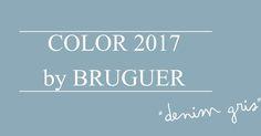 Color BRUGUER 2017, denim gris http://www.decoracionpatriblanco.es/2017/01/color-bruguer-2017.html