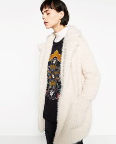 Image 1 of SOFT FAUX FUR COAT from Zara