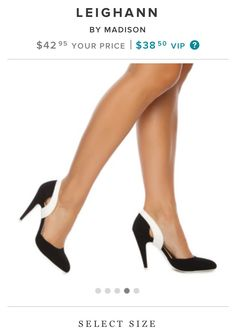 Cute black & white pumps from shoe dazzle to go with my CAbi style