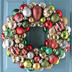 Christmas Ornament Wreath by judyblank on Etsy