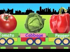 Learn Vegetable Train - learning for kids - YouTube