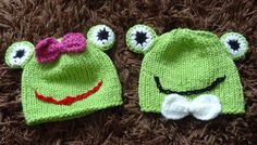 Hey, I found this really awesome Etsy listing at https://www.etsy.com/listing/193539770/twin-baby-hats-frog-hats-photo-props