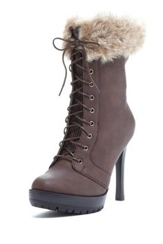 Bucco Faux Fur Cuff Tall Boot on HauteLook