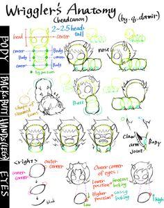 Some of my headcanon anatomy of grubs -w-