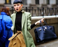 Street Style - Hermes Birkin Bag