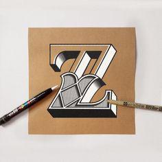 hand lettering on kraft paper 2 on Behance
