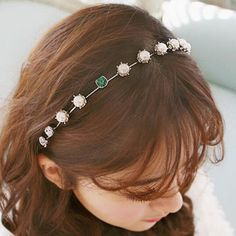 Spritech(TM) Women's Sliver Bling Green Diamante Hairband Headband Diamante Hairhoop Hair Clasp *** Check this awesome product by going to the link at the image. (This is an Amazon affiliate link)