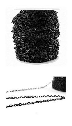 Chains 150069: Cable Chain Spool 100 Feet Dark Black Color 4X6mm Link Flat Oval Link Chain -> BUY IT NOW ONLY: $38.19 on eBay!