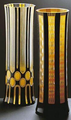 Art Déco - Vases - Verre - Adolf Beckert - Autriche - 1912