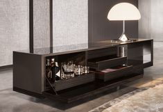Lacquered MDF sideboard Lang Collection by Minotti Sideboard Design, Dining Room Sideboard, Sideboard Furniture, My Furniture, Cabinet Design, Luxury Furniture, Furniture Design, Low Sideboard, Dining Cabinet