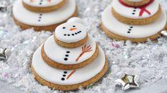 Snehuliakové keksíky | Recepty.sk