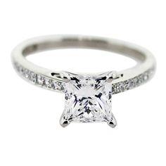 1.5 Carat Princess Cut Diamond Engagement Ring