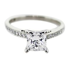1.5 Carat Princess Cut Diamond Engagement Ring