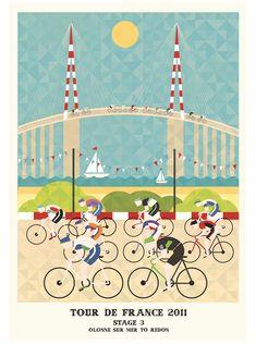 illustration tour france 2011 03 Le Tour de France 2011 illustré design bonus