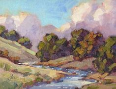 Plein Aire Painting | ... FINE ART: CALIFORNIA IMPRESSIONIST PLEIN AIR OIL PAINTING by TOM BROWN