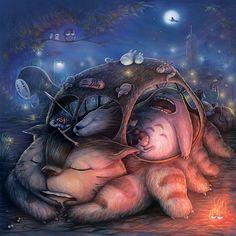 Ghibli Sleepover By Keh Choon Wee
