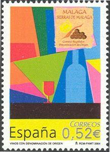Wines - Málaga Wines, The Originals, Sevilla Spain, Postage Stamps
