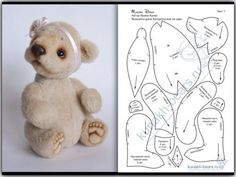Pattern for a micro bearbaby teddy bear pattern, so adorable Diy Teddy Bear, Teddy Bear Clothes, Teddy Toys, Teddy Bear Sewing Pattern, Plush Pattern, Sewing Stuffed Animals, Stuffed Animal Patterns, Teddy Beer, Animal Sewing Patterns