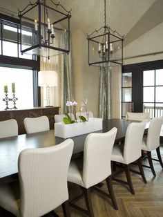 Soft yet masculine dining table