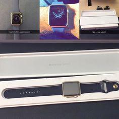 Finally wait is over. Got a new apple watch.  #applewatch #applewatchsport #watchos2 #goldedition #lovedit #so #cool #hurrr #furrr by gurpartapsaab