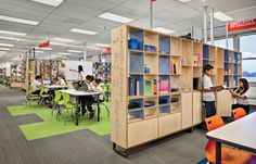 At the William P. Gray School in Chicago, the first school to implement the Learning Module furniture system, the units feature a combinatio...
