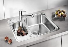 BLANCO LANTOS Stainless Steel Kitchen Sink Reversible The comprehensive range for all kitchen worktops Wide sink family range with clear Modern Kitchen Sinks, Kitchen Sink Design, New Kitchen, Kitchen Decor, Kitchen Worktop, Kitchen Appliances, Stainless Steel, Home Decor, Design Ideas