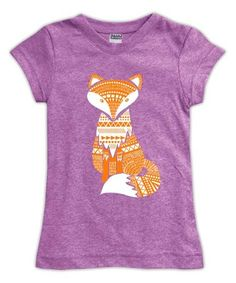 Look what I found on #zulily! Mauve Fox Fitted Tee - Toddler & Girls #zulilyfinds