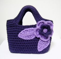 crochet play purse