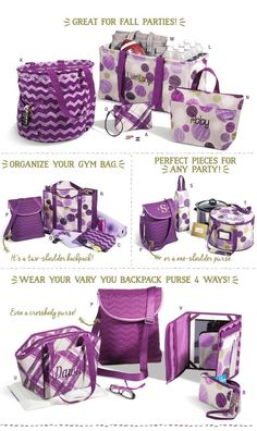 From the Thirty-One Catalog Fall 2014. Check out the rest of the amazing Fall catalogue at   www.mythirtyone.ca/359541.