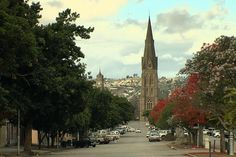 The Cathedral of St Michael from High Street, Grahamstown, South Africa Small Town Girl, National Art, St Michael, Art Festival, Small Towns, South Africa, Cathedral, Places To Go, Trail