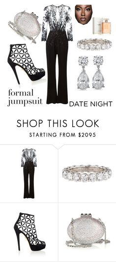 """FIVE STAR DATE NIGHT"" by greenacres1124 on Polyvore featuring Zuhair Murad, Tiffany & Co., Charlotte Olympia, Christian Louboutin, CC, Chanel and DateNight"