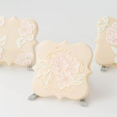 victorian cookies | An elegant sugar cookie decorated with victorian royal icing brush ...