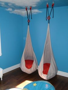 Two Ikea swings in a sensory room