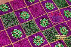 Pani Work/Water Work with normal Stitching Needle- Same like Aari/ Maggam work Cutwork Blouse Designs, Simple Blouse Designs, Bridal Blouse Designs, Blouse Neck Designs, Sleeve Designs, Hand Embroidery Videos, Hand Embroidery Designs, Aari Embroidery, Hand Work Blouse Design
