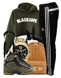 """pt. 2"" by clickk-mee ❤ liked on Polyvore featuring Boohoo, MCM, adidas, Michael Kors and NIKE"