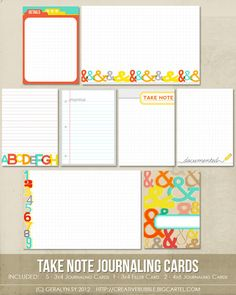Take Note Journaling Cards by In A Creative Bubble