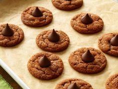 Giada's sugar-studded chocolate-hazelnut cookies are topped with a chocolate kiss: perfect for your favorite cocoa lover.