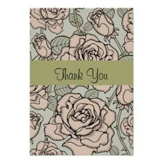 Pretty Custom Floral Thank You Cards