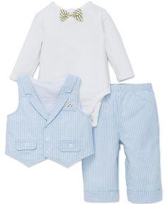 492a757d303 Little Me - Jaunty Chap 3-Piece Vest Set (3M-9M)