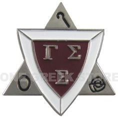 The membership pin of Gamma Sigma Sigma. #gammasigmasigma #friendshipserviceequality #service