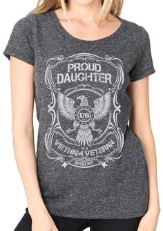 'Proud Daughter of a Vietnam Veteran' Women's Tee | We Add Up - http://weaddup.com/collections/covvha-shop/products/proud-daughter-womens-scoop-neck-t-shirt