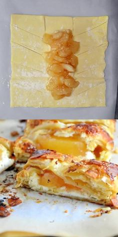 Apple Cream Cheese Pastry Pastry isn't as challenging as you might think! My Easy Apple Cream Cheese Strudel uses only 6 ingredients and 10 minutes to prepare for a fancy-pants breakfast or dessert! Puff Pastry Desserts, Puff Pastry Recipes, Apple Danish Recipe Puff Pastry, Fruit Danish Recipe, Apple Turnovers With Puff Pastry, Easy Cream Cheese Danish Recipe, Phyllo Dough Recipes, Savory Pastry, Choux Pastry